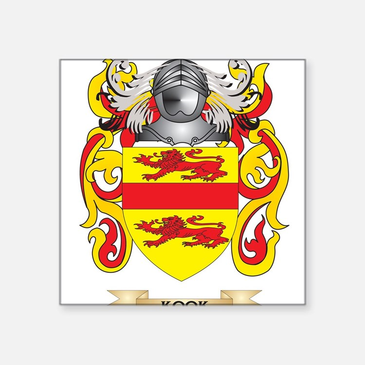 Kook Coat of Arms - Family Crest Sticker