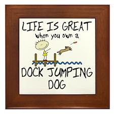 lifeisgreat_dockjumping Framed Tile