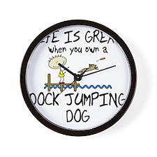 lifeisgreat_dockjumping Wall Clock