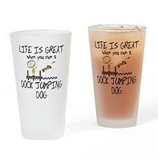 lifeisgreat_dockjumping Drinking Glass