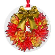 Southwestern Wreath of Chile Pepper Ornament