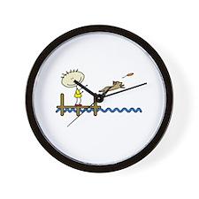 lifeisgreat_dockjumping_blk Wall Clock