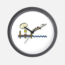 lifeisgreat_dockjumping_blk Wall Clock
