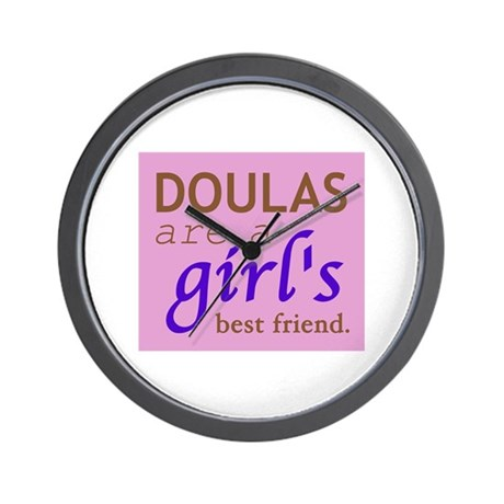 Doulas are a girl's best friend Wall Clock