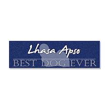bestdogever_lhasa Car Magnet 10 x 3