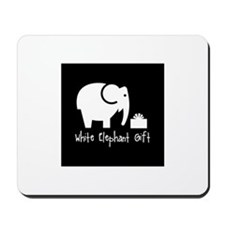 White Elephant Gift Mousepad