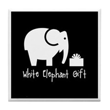 White Elephant Gift Tile Coaster