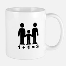 1 + 1 = 3 (graphic of family) Mug