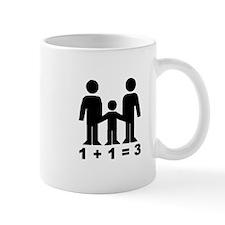 1 + 1 = 3 (graphic of family) Small Small Mug