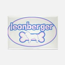 cutesy_leonberger_oval Rectangle Magnet
