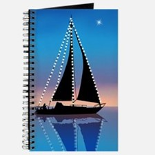Sails at Sunset Sailboat Silhouette with X Journal