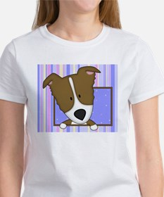 bordercolliebrn_drawing_mousepad Women's T-Shirt