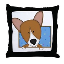 corgi_drawing Throw Pillow
