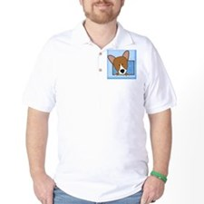corgi_drawing_tile T-Shirt
