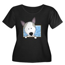 kallie_c Women's Plus Size Dark Scoop Neck T-Shirt