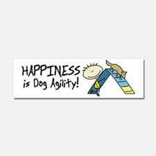 lifeisgreat_agility_aframe_bowl Car Magnet 10 x 3