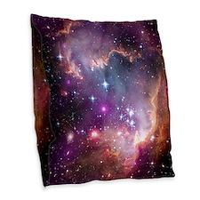 Cute Milky way galaxy Burlap Throw Pillow