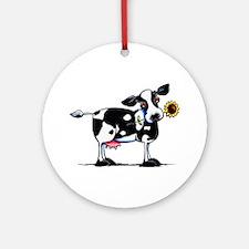 Sunny Cow Ornament (Round)