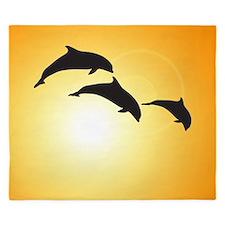 Dolphin Sunset King Duvet