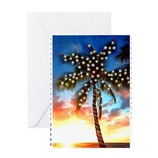 Palm Tree Stamp at Sunset with Chris Greeting Card