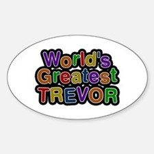 World's Greatest Trevor Oval Decal