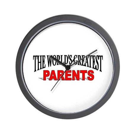 """The World's Greatest Parents"" Wall Clock"