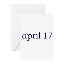 April 17 Greeting Cards (Pk of 10)
