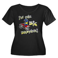 moto_big Women's Plus Size Dark Scoop Neck T-Shirt
