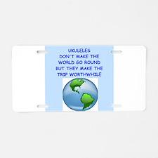ukuleles Aluminum License Plate