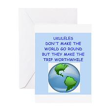 ukuleles Greeting Card