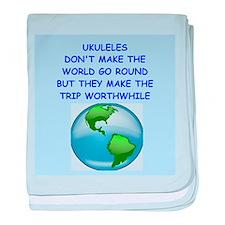 ukuleles baby blanket