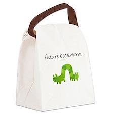 future bookworm.bmp Canvas Lunch Bag