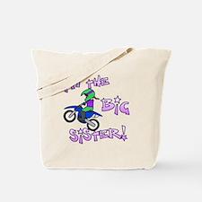 moto_bigsister_blk Tote Bag