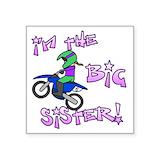 Purple moto Bumper Stickers