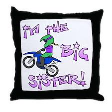 moto_bigsister_blk Throw Pillow