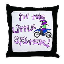 moto_littlesister_blk Throw Pillow