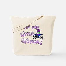moto_littlesister_blk Tote Bag