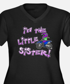 moto_littles Women's Plus Size Dark V-Neck T-Shirt
