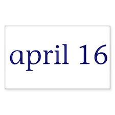 April 16 Rectangle Decal