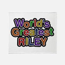 World's Greatest Riley Throw Blanket