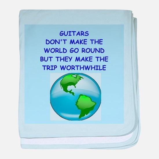 guitar baby blanket