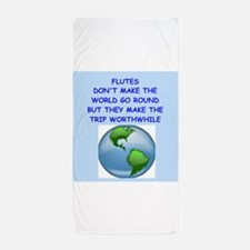 flutes Beach Towel