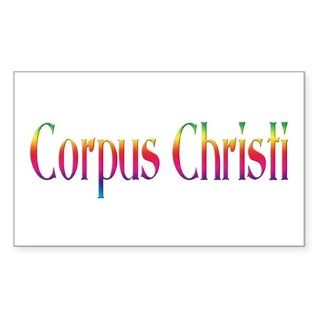 Corpus Christi Rectangle Sticker