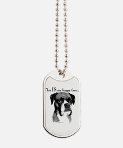 Boxer Happy Face Dog Tags