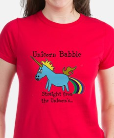 Unicorn babble - black letters T-Shirt
