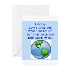 banjo Greeting Card