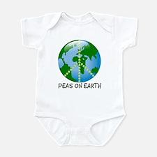 Peace Peas on Earth Christmas Infant Bodysuit