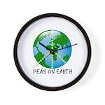 Peace Peas on Earth Christmas Wall Clock