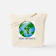 Peace Peas on Earth Christmas Tote Bag