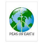 Peace Peas on Earth Christmas Small Poster